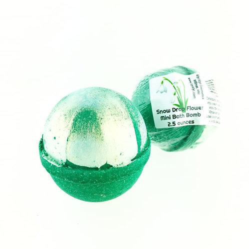 Snow Drop Flowers - Mini Bath Bomb