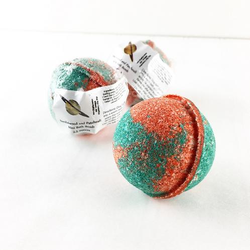 Sandalwood Patchouli- Mini Bath Bomb