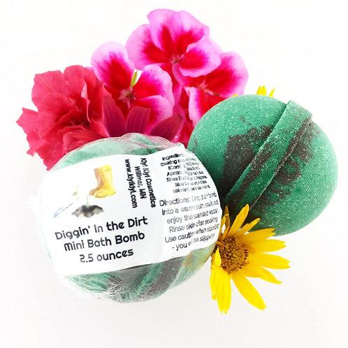 Diggin In the Dirt - Mini Bath Bomb
