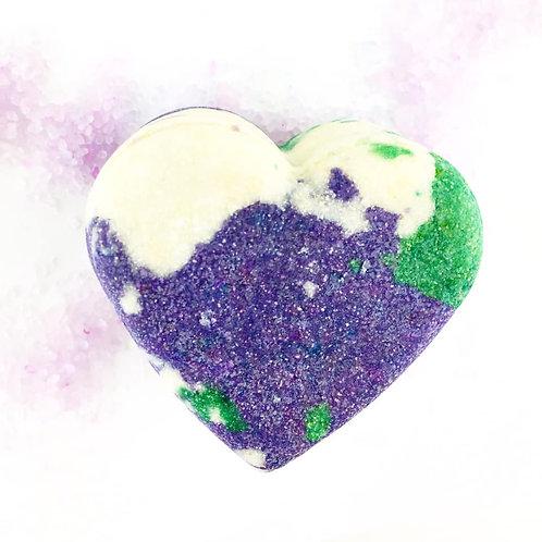 Lilac Bubble Bar - Heart Shaped