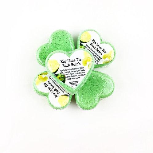 Key Lime Pie- Heart Shaped Bath Bomb