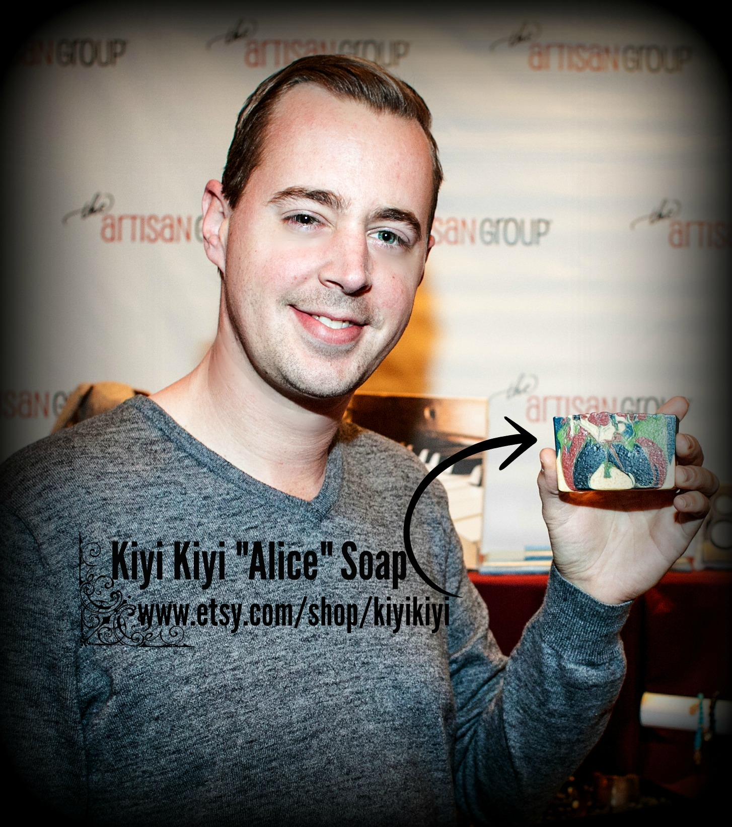 Sean Murray with Kiyi Kiyi Soap