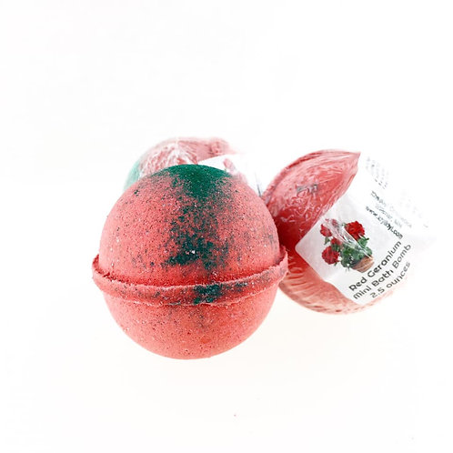 Red Geranium - Mini Bath Bomb