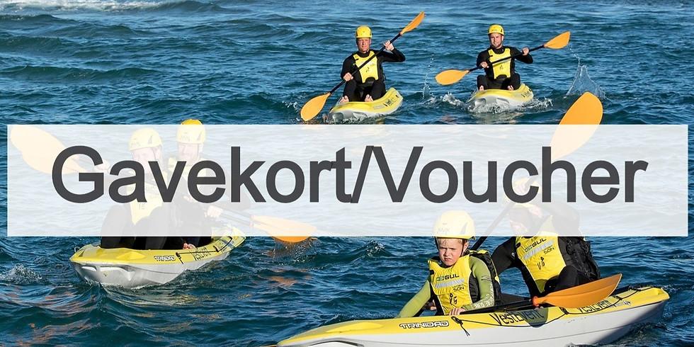 Gavekort Kajaksurf & Tour