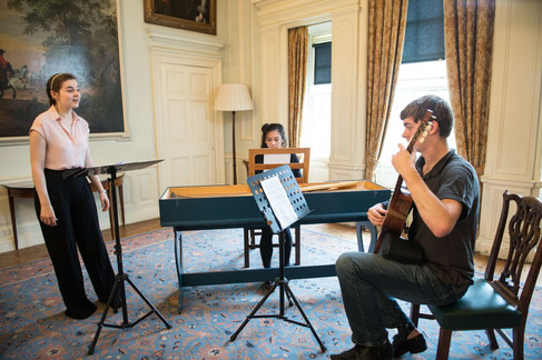 Performance workshops and recordings of Robert Burns Songs at Pollok House (2015)