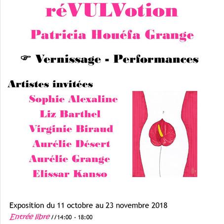 réVULVOtion-Exposition du 11 octobre au 23 novembre.