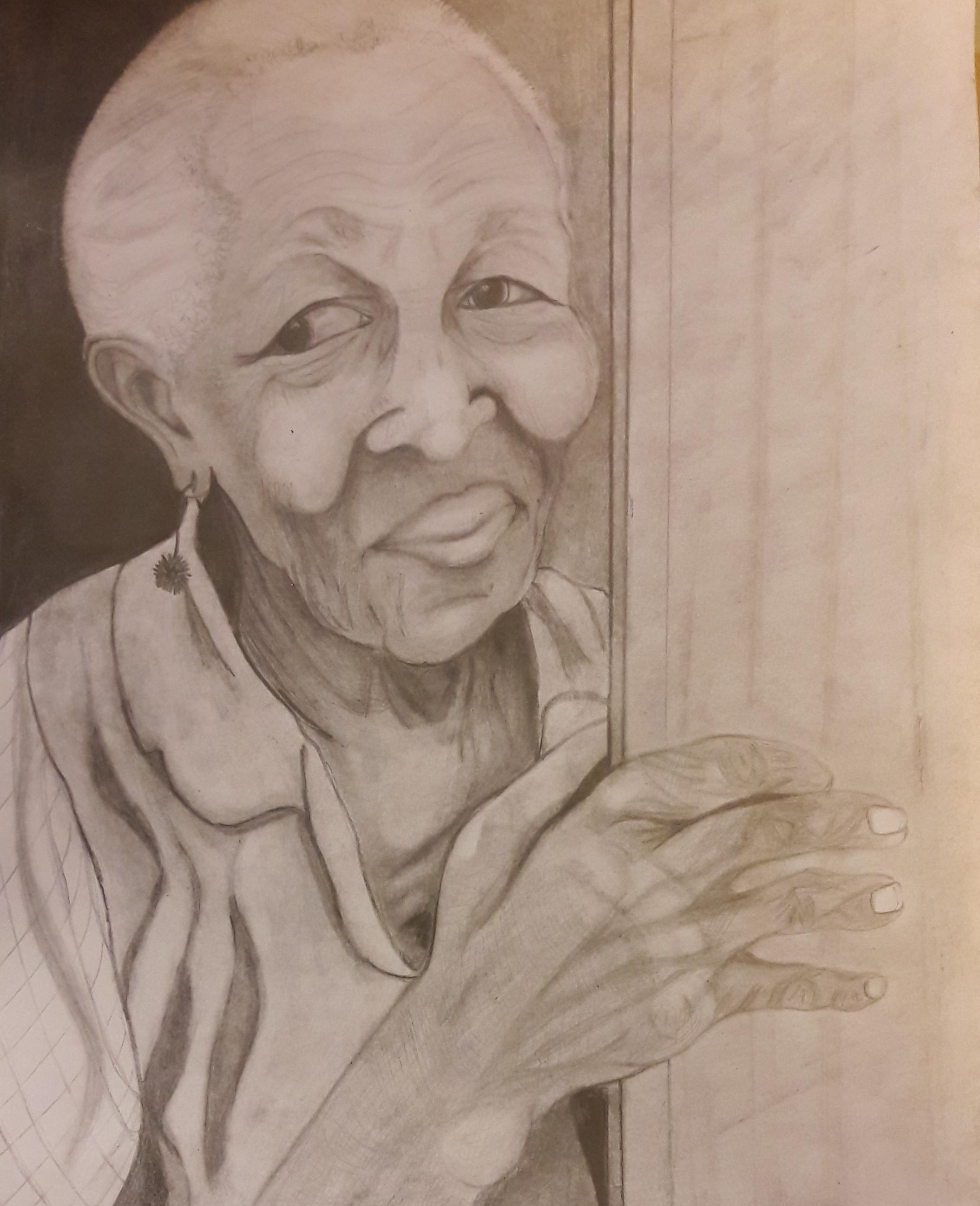 dessins d'une mami d'après une photo