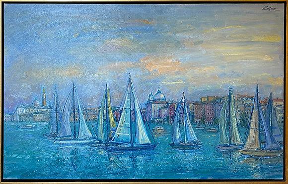 Sailboats in front of San Giorgio
