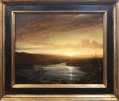 Ken Salaz - Sunset Over Hudson