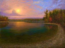 Mystic Sunrise, Walden Pond