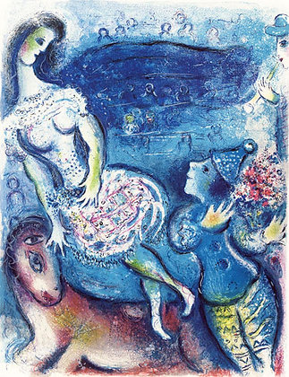 Marc Chagall - Woman Circus Rider & Amorous Clown