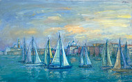 Sailboats in front of San Giorgio