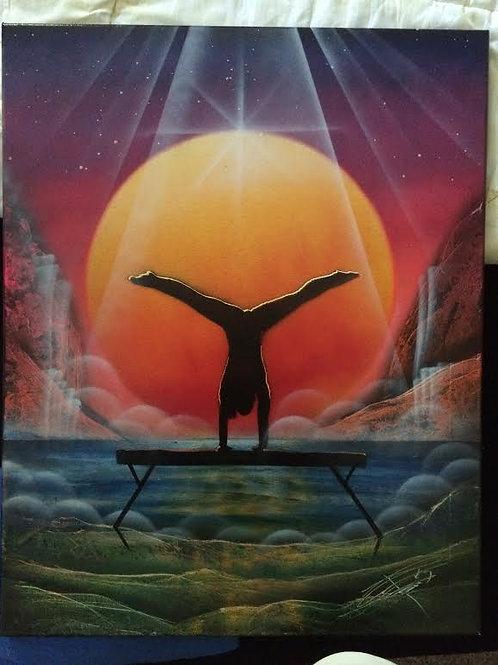 Gymnast Painting
