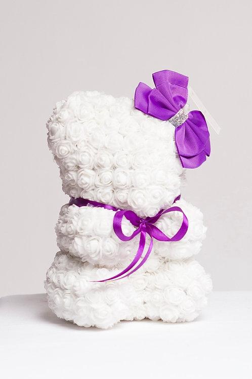 Cute White Rose Bear