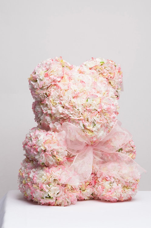 White & Pink Realistic Carnations
