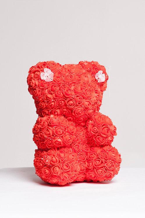 """8"""" Cute Red Rose Bear"""