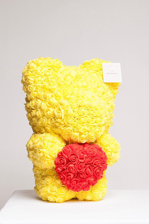 Large Yellow Bear With Heart ❤️