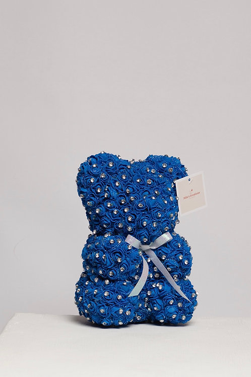 Royal Blue Bear With Diamonds