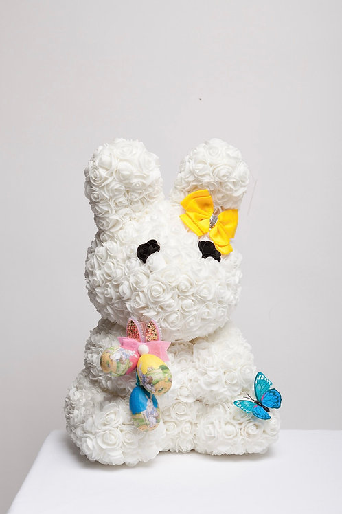 White Large Easter Bunny