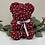Thumbnail: Burgundy Bear With Diamonds