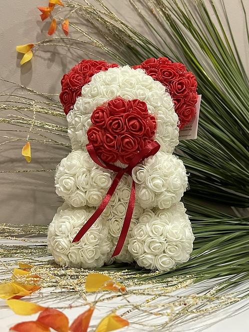 Red & White Rose Bear