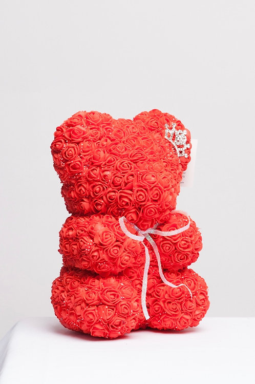 Hot Red Rose Bear