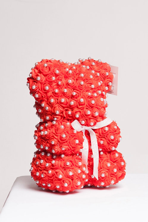 Red With Pearls