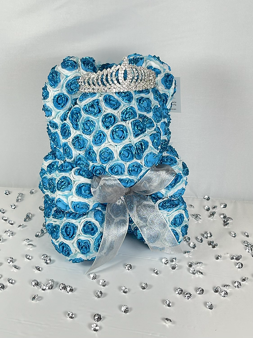 Blue Rose With Glitter