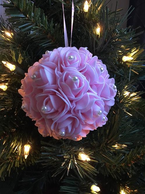 Elegant Pink Christmas Ornament