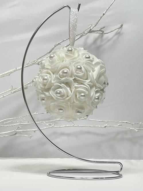 Elegant White Christmas Ornament