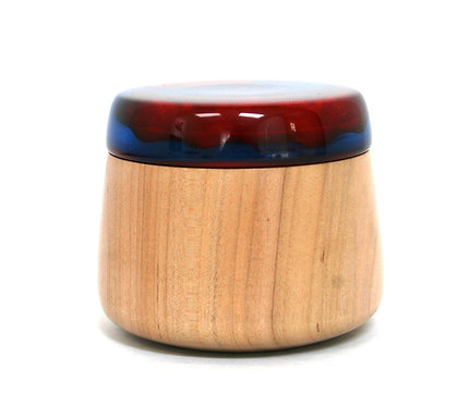Wood & Resin Lidded Box