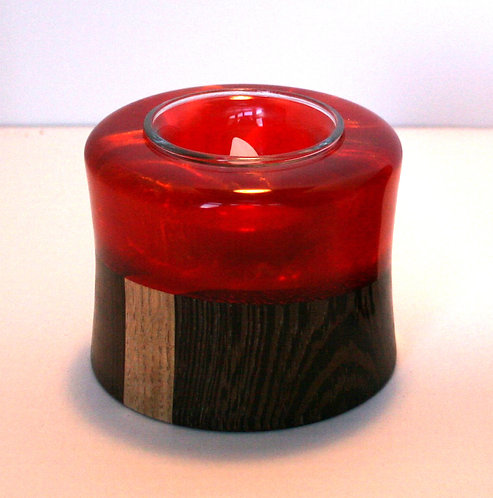 Resin & Wood Candle Holders
