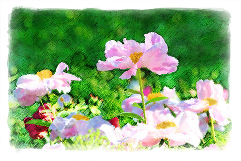 Flower Scene - watercolor