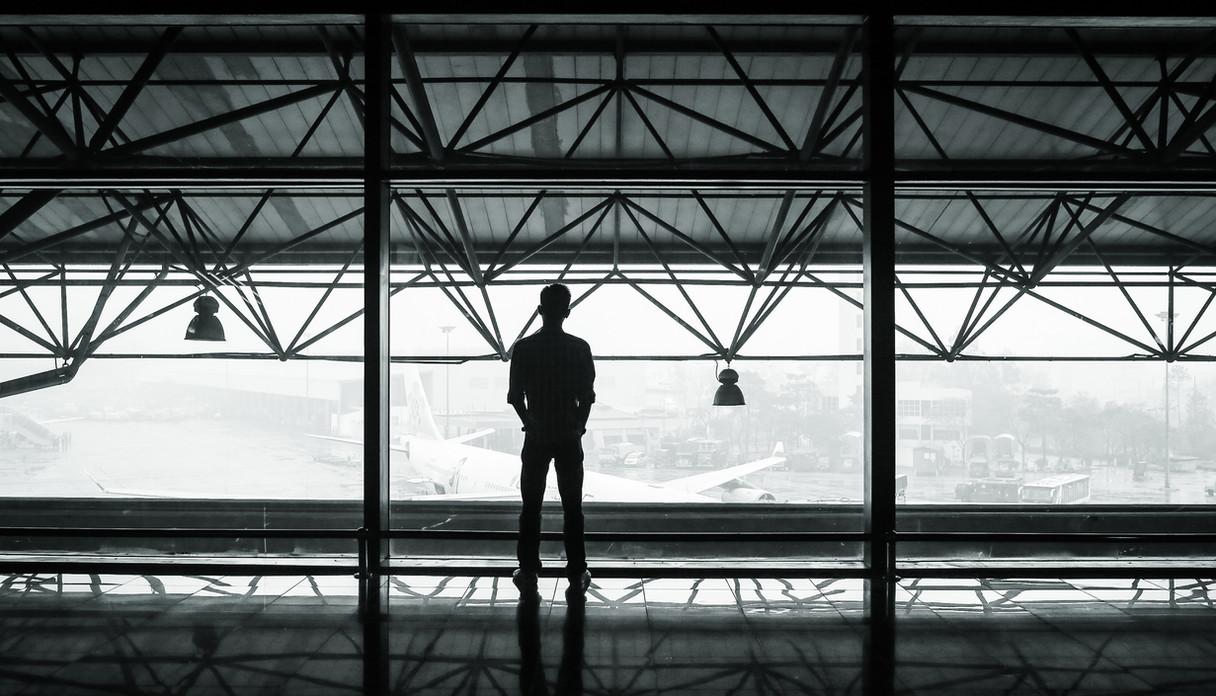 Man overlooking the iron