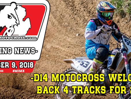 D14 Motocross welcomes back 4 tracks for 2019