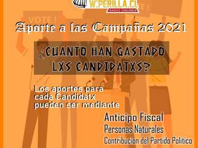 Aportes a las campañas de alcalde y concejal en la Provincia de Quillota hasta 29 de marzo 2021