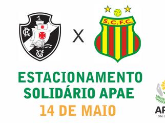"""APAE de São Luis disponibilizará """"Estacionamento Solidário"""" para o jogo Vasco x Sampaio, neste sábad"""