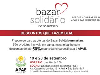 Bazar Solidário da MMartan destina parte da renda para a APAE de São Luís