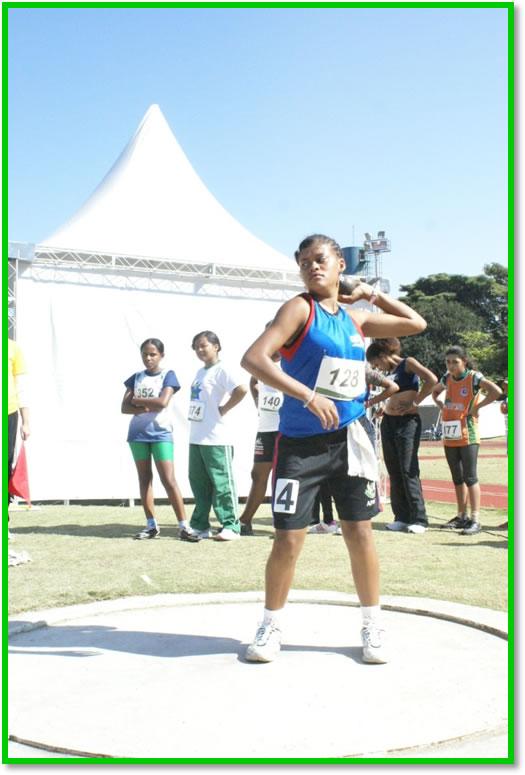 Competição de Atletismo – Arremesso