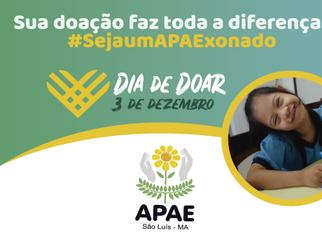 """APAE de São Luís participa da Campanha """"Dia de Doar"""""""