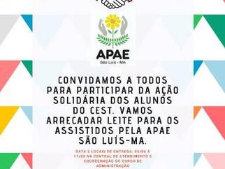 Alunos do CEST promovem Ação Solidária para arrecadar doações para a APAE de São Luís