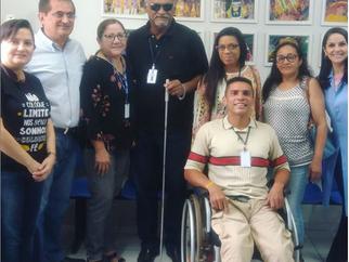Visita do Conselho Municipal de Direitos da Pessoa com deficiência.