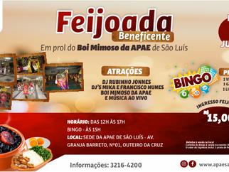 APAE de São Luís promoverá Feijoada Beneficente