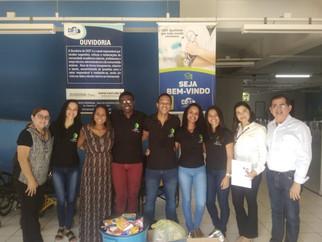 A Liga Acadêmica de Fisioterapia e Ortopedia (LAFITO) da Faculdade CEST faz doação de alimentos à AP