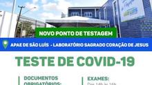 APAE e Prefeitura de firmam parceria para novo ponto de testagem de Covid-19