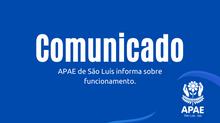 COMUNICADO SOBRE FUNCIONAMENTO