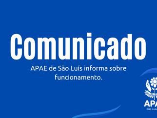 COMUNICADO – RETORNO DE ATIVIDADES