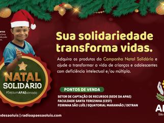 """Apae de São Luís lança campanha oficial """"Natal Solidário 2019"""""""