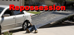 A car or vehicle being repossessed.