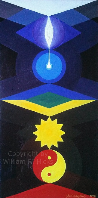 """""""Inner Light"""" painting by William R. Hicks for client"""